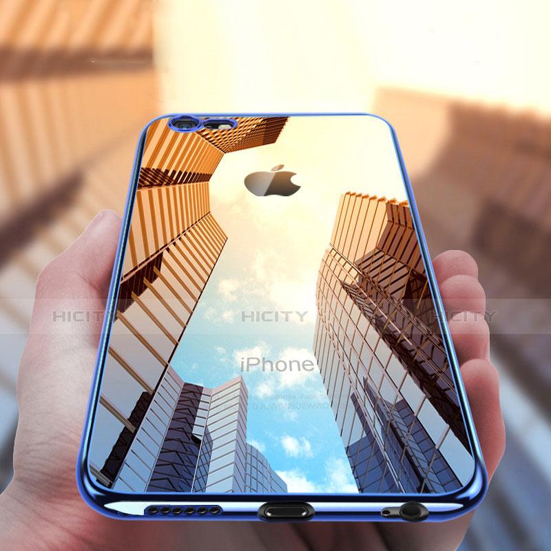 Housse Ultra Fine TPU Souple Transparente T16 pour Apple iPhone 6S Bleu Plus