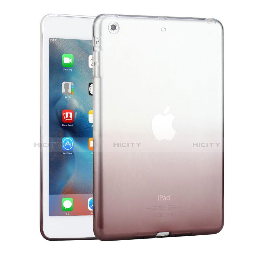 Housse Ultra Fine Transparente Souple Degrade pour Apple iPad Mini Gris Plus