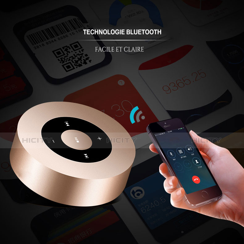 Mini Haut Parleur Enceinte Portable Sans Fil Bluetooth Haut-Parleur S07 Or Plus