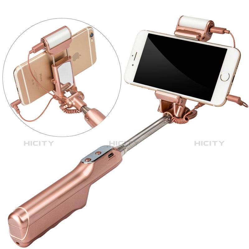 Perche de Selfie Sans Fil Bluetooth Baton de Selfie Extensible de Poche Universel S17 Or Plus