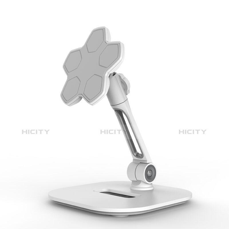Support de Bureau Support Tablette Flexible Universel Pliable Rotatif 360 H03 pour Apple New iPad 9.7 (2018) Blanc Plus