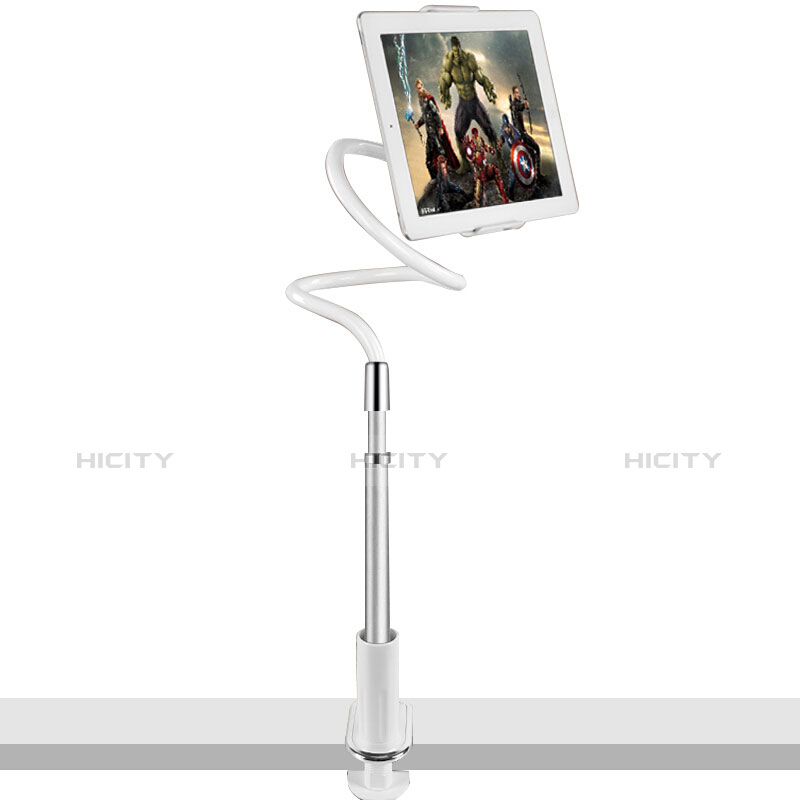 Support de Bureau Support Tablette Flexible Universel Pliable Rotatif 360 T36 pour Huawei MatePad 10.4 Argent Plus
