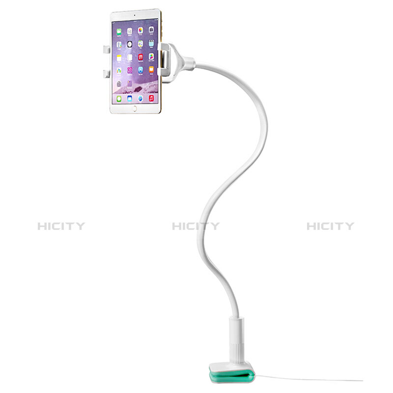 Support de Bureau Support Tablette Flexible Universel Pliable Rotatif 360 T40 pour Huawei MatePad 10.4 Blanc Plus