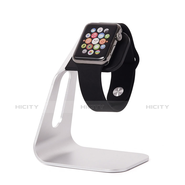 Support de Station de Charge Pied Support Crochet C02 pour Apple iWatch 3 38mm Argent Plus