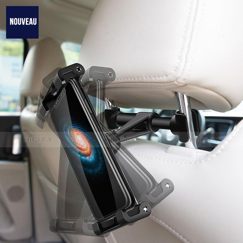 Support Tablette Universel Voiture Siege Arriere Pliable Rotatif 360 B02 pour Samsung Galaxy Tab E 9.6 T560 T561 Noir Plus