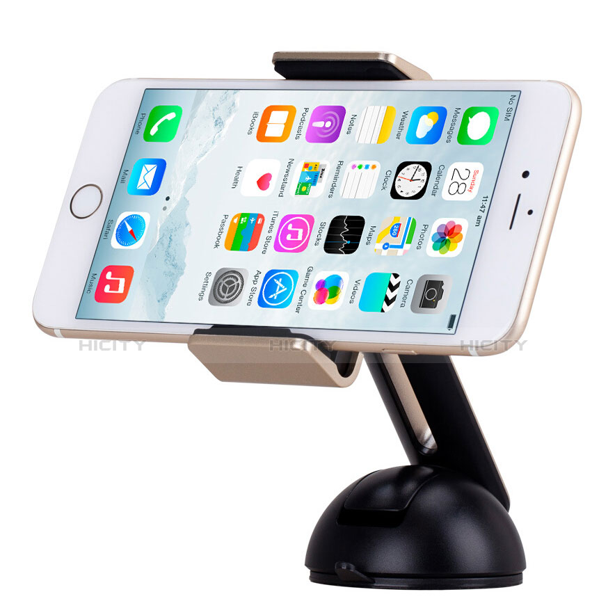 Support Telephone Voiture avec Ventouse Universel M13 Or Plus