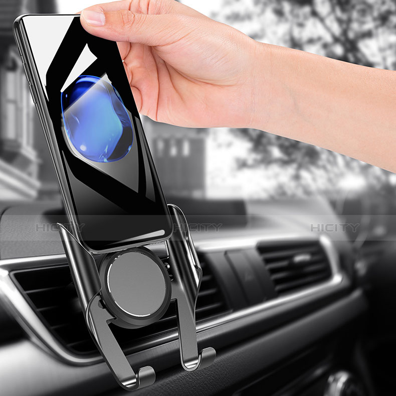 Support Telephone Voiture Grille Aeration Universel A06 Noir Plus